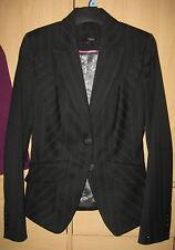 Black pinstripe suit jacket size 6