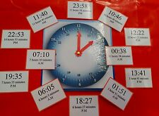 TELL THE TIME- WITH CLOCK FACE + 60 TIME CARDS- TEACHING RESOURCE- LEARNING TIME