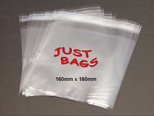 """100 Square Cello bags 6"""" -160mm*160mm with self-seal strip for cards and photos"""
