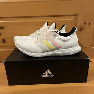 Adidas Men's UltraBoost H02812 Light Blue Yellow Pink Running Shoes Size 11.5