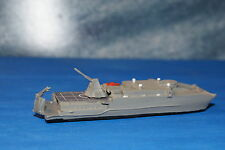 USNS Trenton EPF with Rail Gun Painted 1/1250 Waterline Model ship in Metal