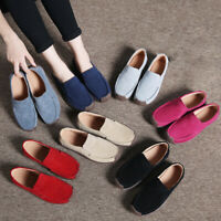 Women's Loafers Shoes Leather Comfy Flat Slip On Moccasins Mules Sandals Casual