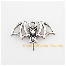 12Pcs Tibetan Silver Tone Animal Bat Wings Charms Pendants 15x21mm