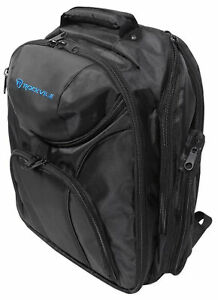 Rockville DJ Controller Bag Backpack Case+Headphone Compartment+Dividers