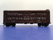 "HO Scale ""Great Northern"" 54072 40' Livestock Cattle Freight Train / Athearn"