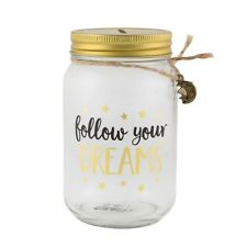 Savings Jar Follow Your Dreams Fund Gold Moon Star Piggy Bank Money Box Coin Pot