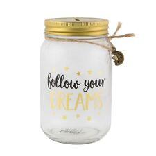 Savings Jar Follow Your Dreams Fund Gold Moon Star Piggy Bank Money Box Coin Pot