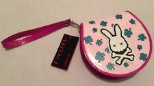 Addicted Bunny Skull Crossbone Purse CD Case Rockabilly/Punk Pink Shamrock NWT