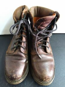 Vintage AWESOME Panama Jack Mens Brown Leather Cuff Ankle Boot  Size 7.5