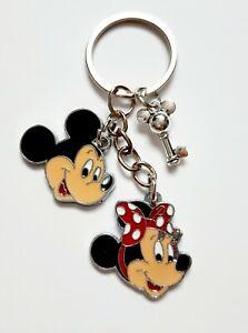 Mickey and Minnie Mouse Ears Key Disney Kids Charm Keyring Keychain UK
