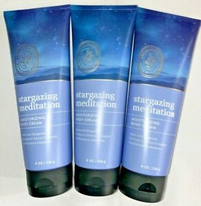 3Bath & Body Works Aromatherapy STARGAZING MEDITATION Moisturizing BodyCream 8OZ