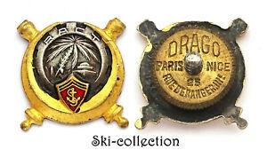 Insigne-Miniature RACT Régiment d'Artillerie Coloniale de TUNISIE. Drago Ber.Dep