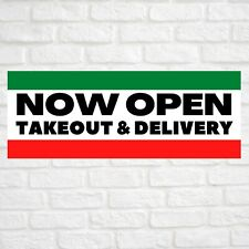 Now Open Takeout Delivery Advertising Vinyl Banner Flag Sign Many Sizes Usa