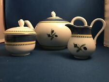 Wedgwood Tuscany Collection Teapot with Sugar Bowl and Creamer Discontinued 2006