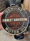 "Harley Davidson Cycle Sign Cast Iron Sign 9"" Patina Indian Triumph SAME DAY SHIP"