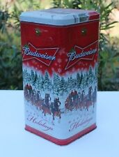 Anheuser-Bush Budweiser Beer Clydesdale Limited Edition Holiday Gift Tin 2007