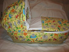 MOSES BASKET 3 PIECEE REPLACEMENT BEDDING SET COVER HOOD AND QUILT