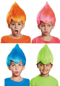 Wacky Wig Troll Crazy Fancy Dress Up Halloween Child Costume Accessory 4 COLORS