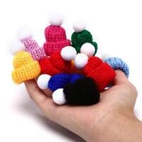 10Pcs Woolen Yarn Knitting Mini Hats Cap Charms Pendant Jewelry DIY Craft Mak DD