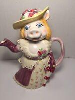 "Vintage Sigma TasteSetter Jim Henson's Muppets MISS PIGGY 10"" Teapot W/lid Japan"