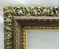 "ANTIQUE FITS 14.1"" X 17.1""  GOLD GILT ORNATE OAK WOOD FRAME FINE ART VICTORIAN"