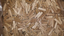 Wooden Dowel Pins Hardwood Fluted Beech Wood  Multigroove Free P&P