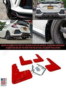 Rally Armor UR Red Mud Flaps w/ Black Logo for 2017-2021 Civic Type R FK8