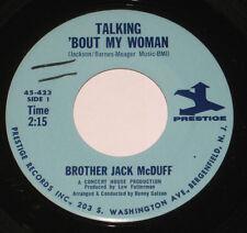 "Brother Jack McDuff 7"" 45 HEAR SOUL JAZZ FUNK Talking Bout My Woman PRESTIGE"