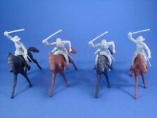 MARX Civil War Toy Soldiers Playset 4 Confederate Cavalry w Horses FREE SHIP