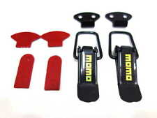MOMO STYLE SMALL BLACK BOOT BONNET SIDE BUMPER TOGGLE FASTENERS CATCH CLIPS