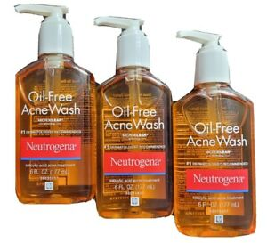3x Neutrogena Oil-Free Acne Treatment Wash Cleanser Results in 1 Day 6.7oz