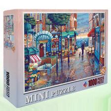 Mini Jigsaw Puzzles for Kids 1000pcs Paris Town Europe Rainy Street Landscape