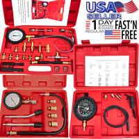 140 PSI Gasoline Fuel  Pump Pressure Gauge Tester Test Tool Kit W/Case