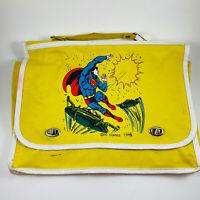 Vintage 1980 Superman DC Comics Book Bag Satchel RARE