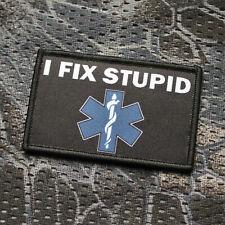 Morale Patch Aufnäher Sanitäter I Fix Stupid Arzt Rettungssanitäter Erste Hilfe