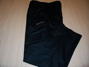 NIKE DRI- FIT BLACK LIGHTWEIGHT ATHLETIC PANTS MENS SMALL EXCELLENT