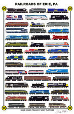 "Railroads of Erie, Pennsylvania 11""x17"" Poster Andy Fletcher signed"