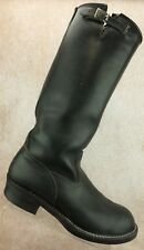 Wesco West Coast Engineer Motorcycle Tall Riding Boots Black Leather Men's 11 D