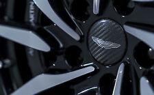 Aston Martin Wheel Centre Badge - Carbon Fibre Set in Satin Black