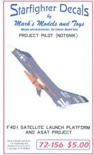 Starfighter Decals 1/72 F4D-1 SATELLITE LAUNCH PLATFORM AND ASAT PROJECT
