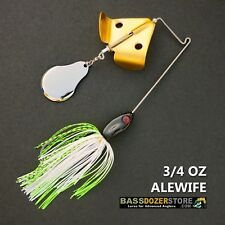 Buzzbait CHOPPER 3/4 oz ALEWIFE buzz bait buzzbaits. KVD trailer hook
