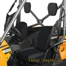 BLACK BUCKET SEAT COVER SET for 2008-2009 2-PASSENGER KAWASAKI TERYX 750 FI & LE