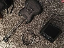 Epiphone SG Prophecy Custom EX Electric Guitar with EMG and small amp with 15ft
