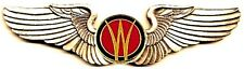 """Aero Willys - Flying """"W"""" Willys Emblem #2 Golden Finish Deluxe Pilot Wings"""