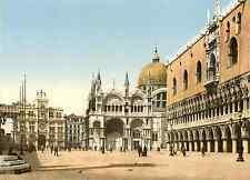 Venezia. Piazza San Marco  Photochrome original d'époque, Vintage photochro