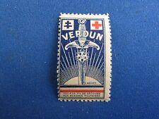 poster stamp cinderella vignette marken secours blesses de verdun guerre