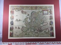 EVROPA Africa Pars Map.  Vintage. Matted Without Frame.