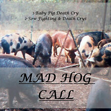 CD GAME CALLs HOG HUNTING, HOG CALL, SCREAMING DYING PIG & DIEING SCREAMIN SOW!