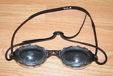 "Genuine TYR Black Adult 6"" Polorized Swim Goggles w/ Adjustable Strap **READ**"