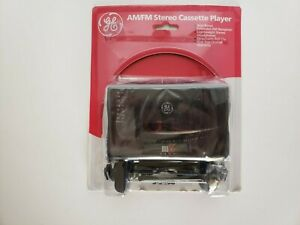 Vintage GE AM/FM Stereo Cassette Player 3-5468 Portable Music Radio Max Bass NWT